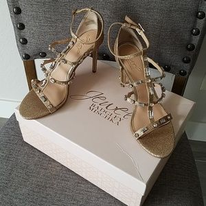 Badgley Mischka Gold Heels
